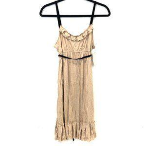Vera Wang Luxe S Silk Blend Ruffle Sheath Dress
